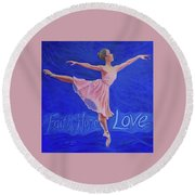 Life's Dance Round Beach Towel by Jeanette Jarmon