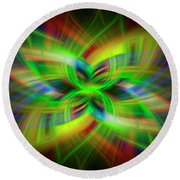 Light Abstract 1 Round Beach Towel
