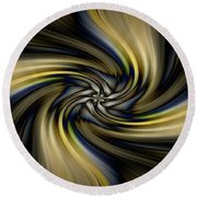 Light Abstract 10 Round Beach Towel