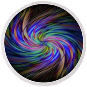Light Abstract 2 Round Beach Towel