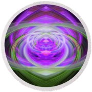 Light Abstract 3 Round Beach Towel