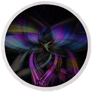 Light Abstract 4 Round Beach Towel