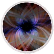 Light Abstract 5 Round Beach Towel