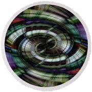 Light Abstract 6 Round Beach Towel
