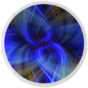 Light Abstract 7 Round Beach Towel
