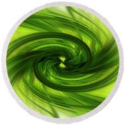 Light Abstract 8 Round Beach Towel