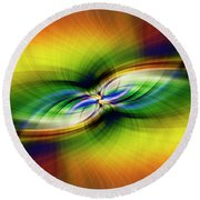 Light Abstract 9 Round Beach Towel