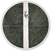 Light And Shadow 10 Round Beach Towel