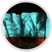 Light And Shadows Round Beach Towel