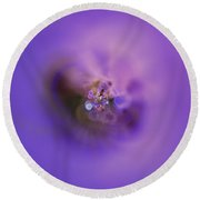 Round Beach Towel featuring the digital art Light And Sound Abstract by Robert Thalmeier