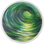 Light At The End Of The Tunnel Round Beach Towel