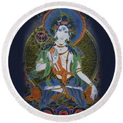 Light Giving Shiva  Round Beach Towel