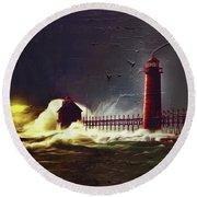 Light House 07 Round Beach Towel by Gull G