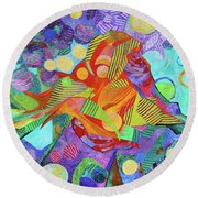 Light In The Heights Round Beach Towel