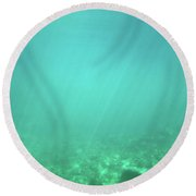 Round Beach Towel featuring the photograph Light In The Water by Francesca Mackenney
