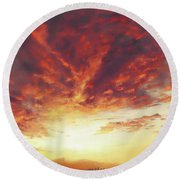 Light Round Beach Towel