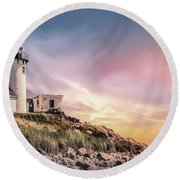 Light My Way Round Beach Towel