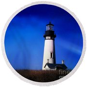 Light My Way Round Beach Towel by Sheila Ping