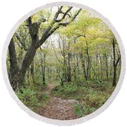 Light On Path Round Beach Towel