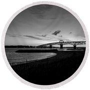 Light Over Bridge Round Beach Towel