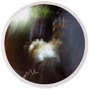 Light Paintings - No 4 - Source Energy Round Beach Towel