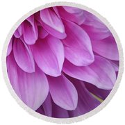 Light Purple Petals Round Beach Towel