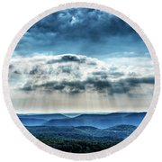 Round Beach Towel featuring the photograph Light Rains Down by Thomas R Fletcher