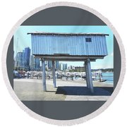 Light Shed 1 Round Beach Towel