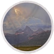 Light Storm Round Beach Towel by Eric Tressler