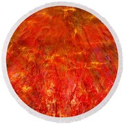 Round Beach Towel featuring the mixed media Light Storm by Sami Tiainen
