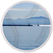Light Streak Round Beach Towel