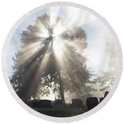Round Beach Towel featuring the photograph Light by Tara Lynn