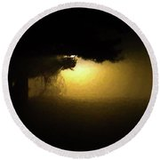 Light Through The Tree Round Beach Towel