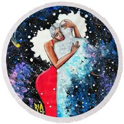 Light Years For Love Round Beach Towel