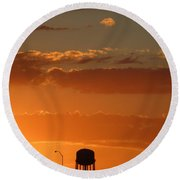 Round Beach Towel featuring the photograph Lighten Up by Marie Neder