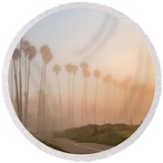 Lighter Longer Round Beach Towel by Sean Foster