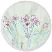 Round Beach Towel featuring the photograph Lighter Side Azaleas by Ellen O'Reilly