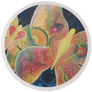 Lighthearted Round Beach Towel