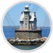 Lighthouse 2-c Round Beach Towel