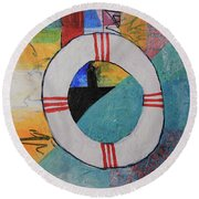 Lighthouse A Round Beach Towel