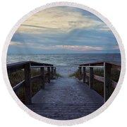 Lighthouse Beach - Sanibel Island Round Beach Towel