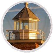 Lighthouse Wonder Round Beach Towel
