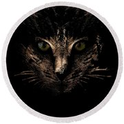 Round Beach Towel featuring the photograph Lighting by Helga Novelli