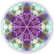 Round Beach Towel featuring the digital art Lightmandala 6 Star 2 by Robert Thalmeier
