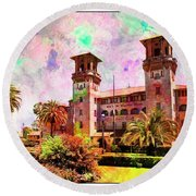 Lightner Museum St Augustine Florida Round Beach Towel by Bob Pardue