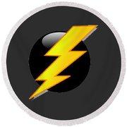 Lightning Bolt T-shirt Round Beach Towel