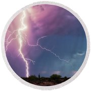 Lightning Dancer Round Beach Towel