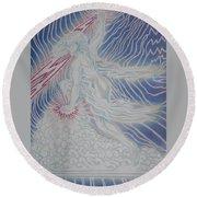 Lightning Goddess Round Beach Towel