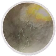 Lightning Round Beach Towel by Stacy C Bottoms
