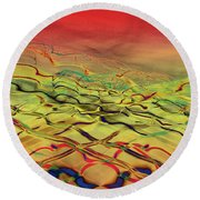 Lights Go By My Window Round Beach Towel by David Pantuso